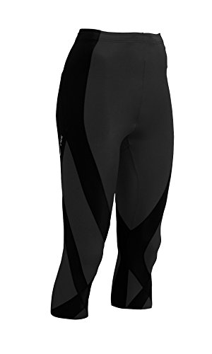 CW-X Women's 3/4 Length Pro Running Tights,Black,Small