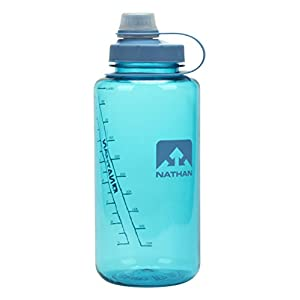 Nathan Big Shot Narrow Mouth Bottle, 32 oz, Blue Radiance