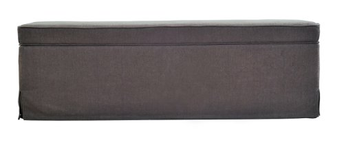 Handy Living OTT412-LIN67 Skirted Bench Storage Ottoman, Smoky Moss Green Linen