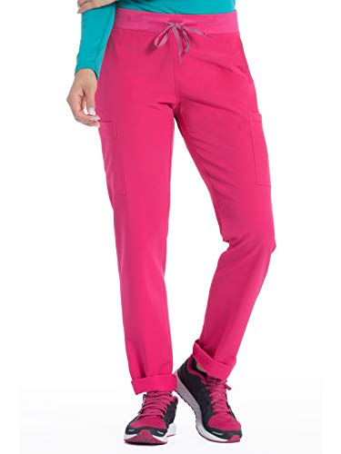 Med Couture Air Scrubs for Women, Yoga 2 Cargo Pocket Pant, Watermelon/Teal, XXX-Large ()