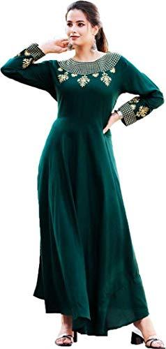 Riya Fashion Women's Rayon A-Line Maxi Dress