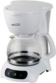 Brentwood Appliances TS-212 4-Cup Coffee Maker, White