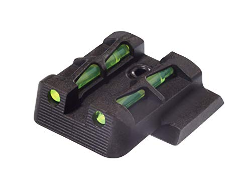 HIVIZ MPSLW11 Interchangeable LITEWAVE Rear Handgun Sight for Smith & Wesson/M&P Shield in 9mm/.40 S&W Caliber