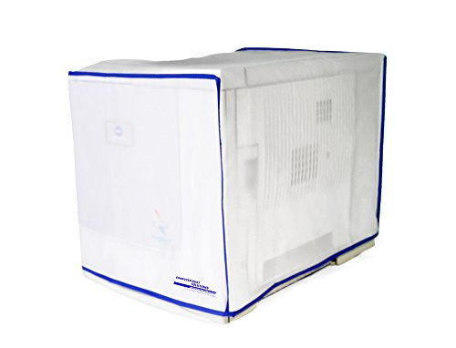 Computer Dust Solutions Printer Dust Cover, Covers Inkjet or Laser Printers, Silky Smooth Antistatic Vinyl, Translucent Coconut Cream Color with Blue Trim, Several Sizes Available, (22W x16H (Smooth Laser)