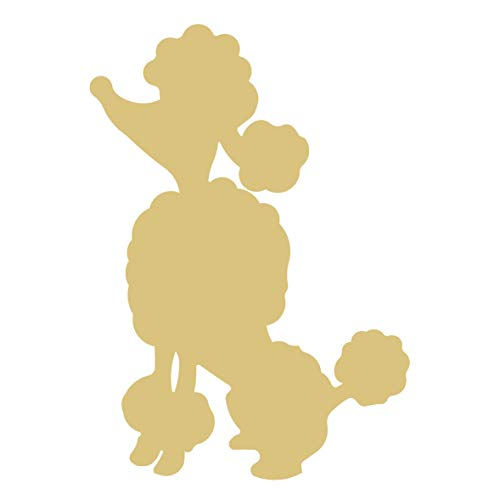 Poodle Unfinished Wood Animal Everyday Decor Dog Lover Door Hanger MDF Shape Canvas Style 2 -
