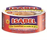 Isabel Lomitos de Atun , (Pack of 48), ( Solid Light Tuna) in Veg Oil Canned 5,5 oz ( 150g)