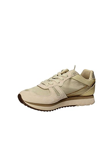 Gold Wedge NUT inverno Tokyo T0890 2018 sneakers lacci BEIGE STAR LOTTO PELLE W GOLD qHYOO5w
