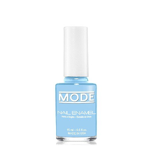 Mode, Nail Enamel (Bright Happy Sky Blue in a Cream Finish - Shade #136) Long Wear, High Gloss, Chip Resistant, Cruelty-Free, Vegan, Salon Nail Polish Formula, Made in The Beautiful USA