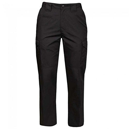 Ems Twill - Propper Women's Critical Response Ems Pant - 65/35 Twill, Black, 18 Unhemmed