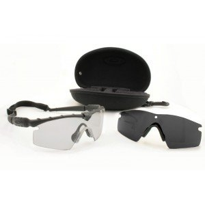 Oakley Si Ballistic M-frame 2.0 Array - Black Frame with Grey and Clear - Sunglasses Oakley Frame M