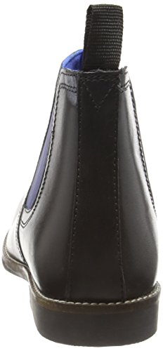 Red Tape Stockwood, Botas Chelsea para Hombre Negro (Black Leather / Blue)