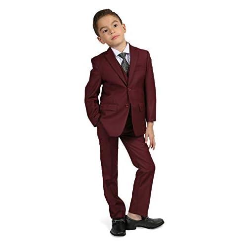 Ferrecci Boys 5 Piece Suit Set Blazer Jacket-Dress Pants-Vest-Necktie-Shirt