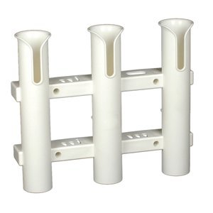 CE Smith Tournament 3 Rack Rod Holder, White-Replacement Parts and Accessories for Tournament Fishing, Rod Fishing, Deep Sea Fishing and Trolling