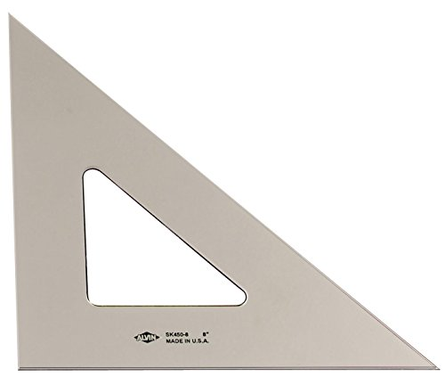 Inking Triangle - Alvin SK450-12 12 inch Smoke-Tint Triangle 45/90