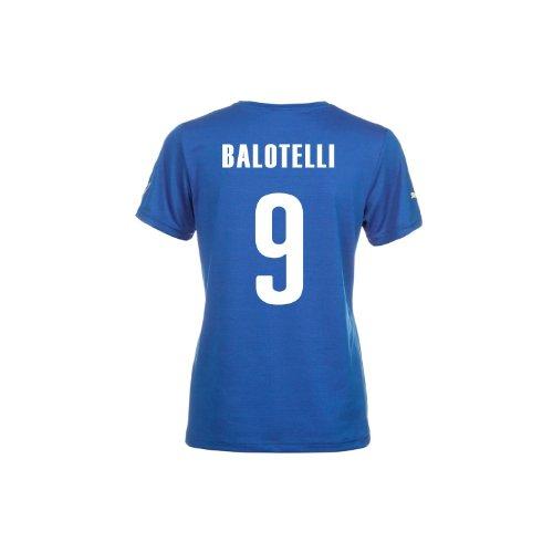恐怖予見する混雑Puma Italy Balotelli #9 Italy Home Jersey World Cup 2014 (Women)/サッカーユニフォーム イタリア ホーム用 ワールドカップ2014 背番号9 バロテッリ レディース