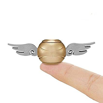 Snitch Fidget Spinner 2PCS, Hand Spinner Toy Time Killer Copper SNITCH  Stainless Steel Metal Fidget Toys Fingertip Gyro Relief Cube Toy Gifts For