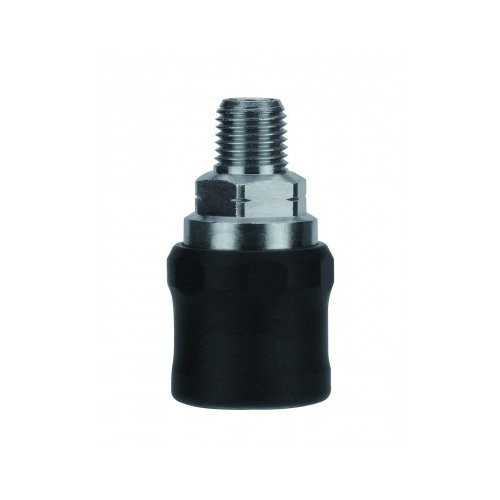 Nickel Plated Brass AIGNEP USA 80621-06 1//4 Safety Coupler x 3//8 Male NPTF Thread