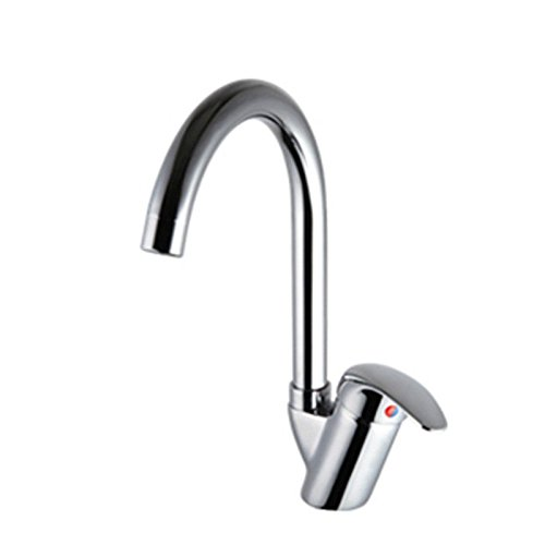 ANNTYE Waschtischarmatur Bad Mischbatterie Badarmatur Waschbecken Messing Warmes und kaltes Wasser 1 Loch drehbares Einhebelsteuerung Badezimmer Waschtischmischer