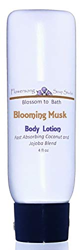 Blossom to Bath Blooming Musk Lotion (4 oz) - Subtle Feminine Musk - Fast Absorbing Coconut and Jojoba Blend ()