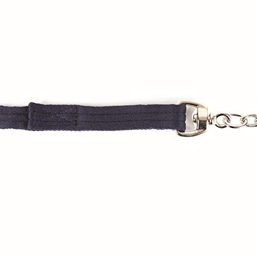 Pferde Führleine mit Kette schwarz 250cm Kerbl Hengstkette
