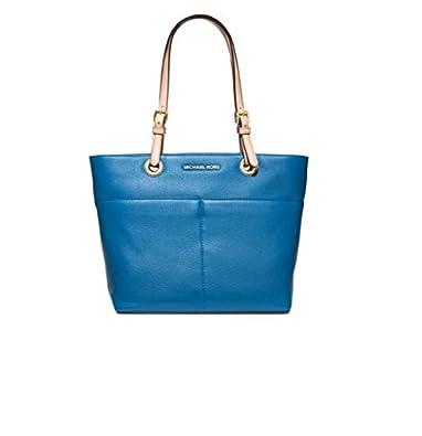 bf88f067961d Amazon.com  Michael Kors Jet Set Item Top Zip Tote Heritage Blue Leather Bag  New  Shoes