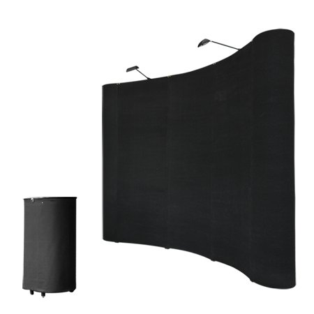 8'x8' Portable Trade Show Display Booth Pop Up Black w/ Case by Mega Brands