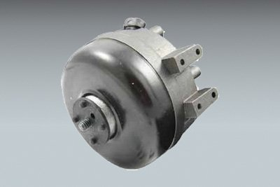 Unit bearing watt motor, aluminum, shaded pole, 3 9/16'' diameter, 5 watts, 115 volt, 1550 RPM, CWOSE, 1/4'' threaded shaft