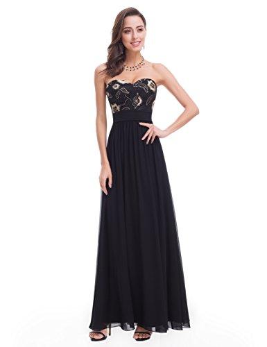 Ever-Pretty - Vestido - Noche - Sin mangas - para mujer negro