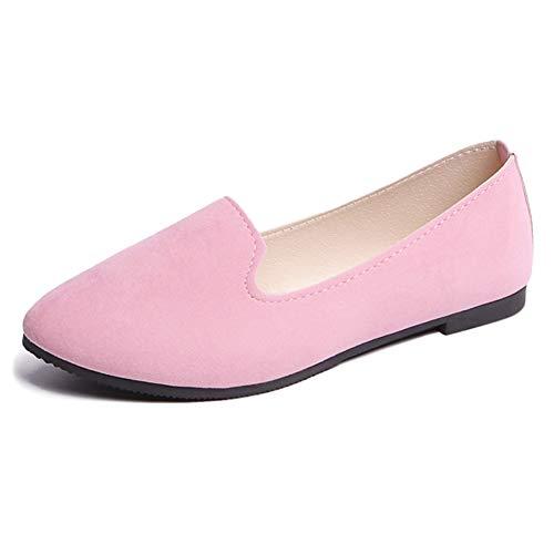 Donna on Slip Rosa Shopping Fiocco Signore Camminate Comfort Daytwork Piatti Scarpe Incinte Dettaglio Dolly Mocassini Classici Bambina Décolleté dIgT7