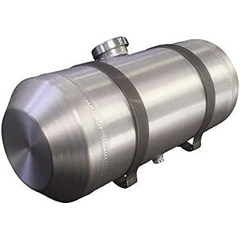7 GALLON 1//4 NPT Sandrail 8x33 Vertical Spun Aluminum Gas Tank Offroad Ratrod