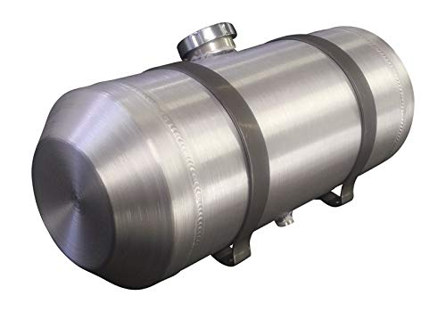 (8x24 Center Fill Round Spun Aluminum Gas Tank - 5 Gallon - Motorcycle - Tractor Pulling - Ratrod - Dune Buggy - Trike - Baja Bug - 3/8 NPT - Made in the USA!)