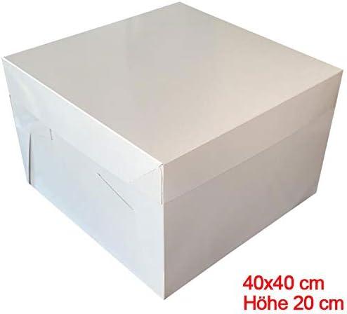 Mytortenland Caja para Tarta (40 x 40 x 20 cm, 10 Unidades) A ...