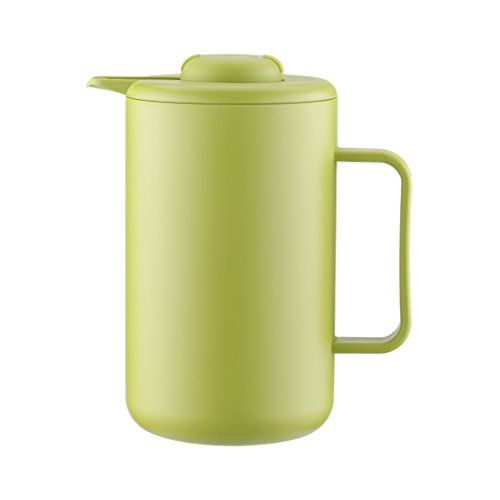 Bodum Bistro - Thermo Jug - Double Wall Vacuum Insulation Suitable for Hot and Cold Drinks - 1 Litre - Lime ()