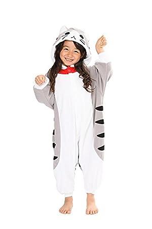 Katara Pijama con Capucha para niños Gato, Color Gris, 3-5 años (