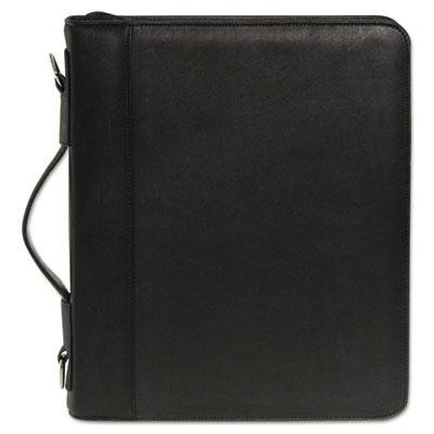 Buxton - Zip-Around Cal-Q Folio Smooth Cover Calculator 3-Ring Pad Pocket Black