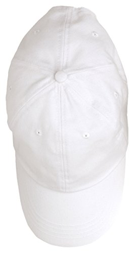 Anvil Men's Low Profile Adjustable 6 Panel Brushed Cap, White/ Wheat, One (Brushed 6 Panel Cap)