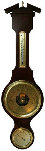 - Ambient Weather Fischer 6901-22 Instruments Brass Dial Banjo Weather Station with Thermometer/Hygrometer/Barometer
