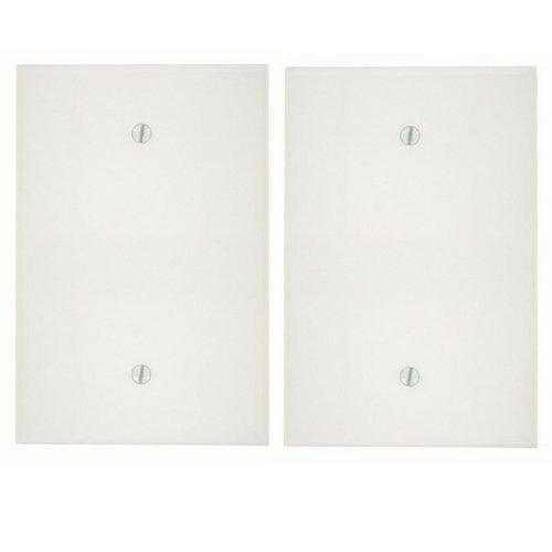 Leviton 88114 1-Gang No Device Blank Wallplate, Oversized, Thermoset, Box Mount, White … (2 Pack)