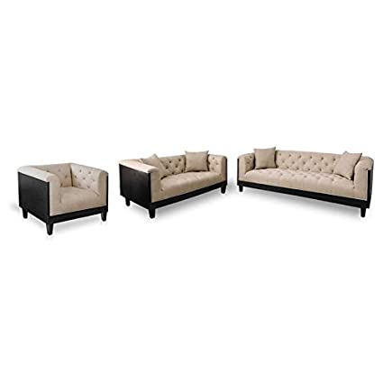 Amazon.com: Furniture of America Leon Transitional 3-Piece ...