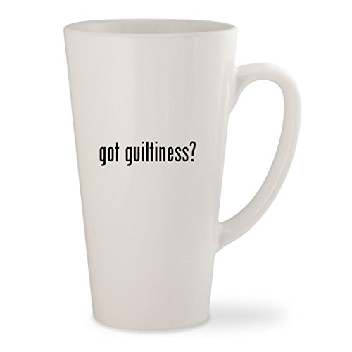 got guiltiness? - White 17oz Ceramic Latte Mug Cup