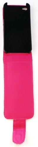Emartbuy® Apple Iphone 4 4G Hd Glitter Prime Flip Case / Couverture / Pochette Rose