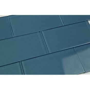Dark Astoria Blue Glass Subway Tile Popular Kitchen Backsplashes And