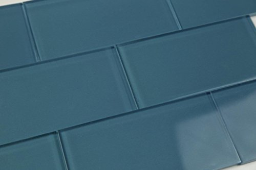 Dark Astoria Blue Glass Subway Tile Popular kitchen backsplashes and bathroom, - Popular Glasses