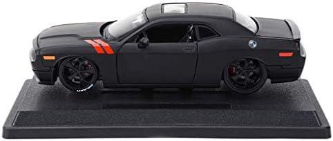 YN モデルカー 合金車2ドア2座席スポーツカー1:24 2008モデルダッジチャレンジャーマッスルスポーツカーアダルトコレクション趣味装飾ギフト ミニカー (Color : BLACK)