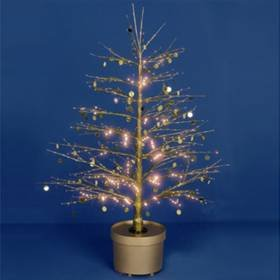 Premier Fibre Optic Gold Sequin Christmas Twig Tree 120cm Amazon  - Fibre Optic Christmas Tree Uk Only