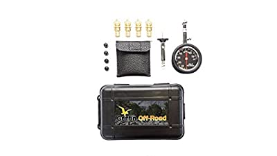 Griffin Offroad Tire Deflator Kit with 80 psi gauge, 4 valve Caps, Tire Tread Depth Gauge | Automatic, Adjustable Deflator Tool Kit for Cars, Suvs, Trucks, Motorcycles, ATVs , 4x4, Offroading Tools by Griffin Offroad