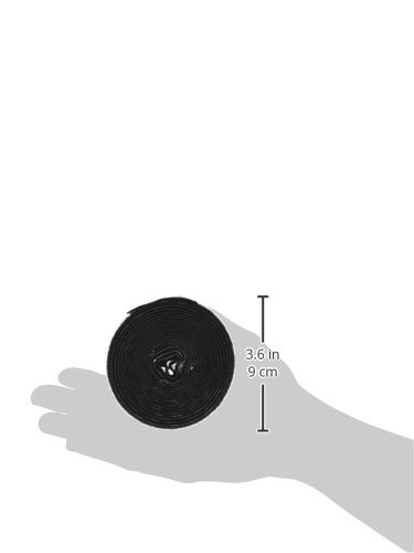 VELCRO 1001-AP-PSA//L Black Nylon Woven Fastening Tape 1//2 Wide 10 Length Pressure Sensitive Adhesive Back Loop Type