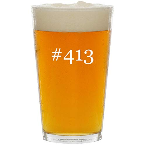 #413 - Glass Hashtag 16oz Beer Pint