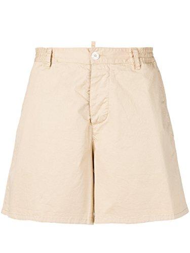 DSQUARED2 Women's S72MU0261S35175109 Beige Cotton Shorts