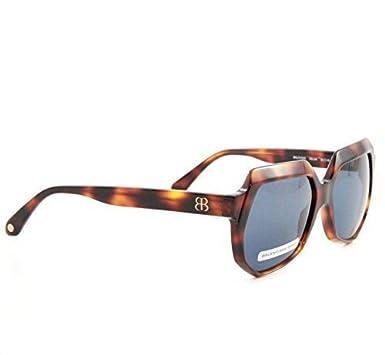 BALENCIAGA Damen Designer Sonnenbrille Braun Schildpatt Retro Vintage Luxus 6SMB8